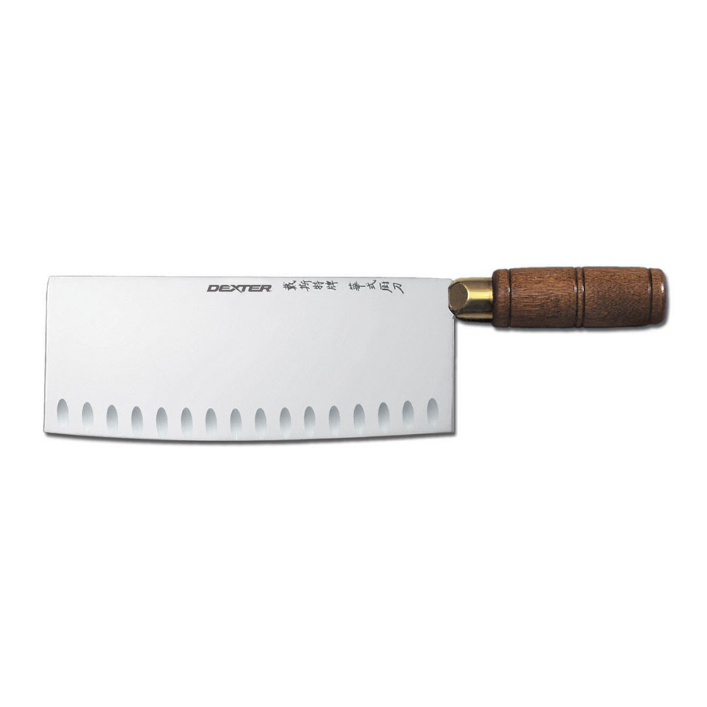 "Dexter Russell S5198GE-PCP 8"" Chinese Chef's Knife w/ Hardwood Handle, Carbon Steel"