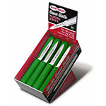 "Dexter Russell S104-24G 3.25"" Sani-Safe® Paring Knife Set w/ Polypropylene Green Handle, Carbon Steel"