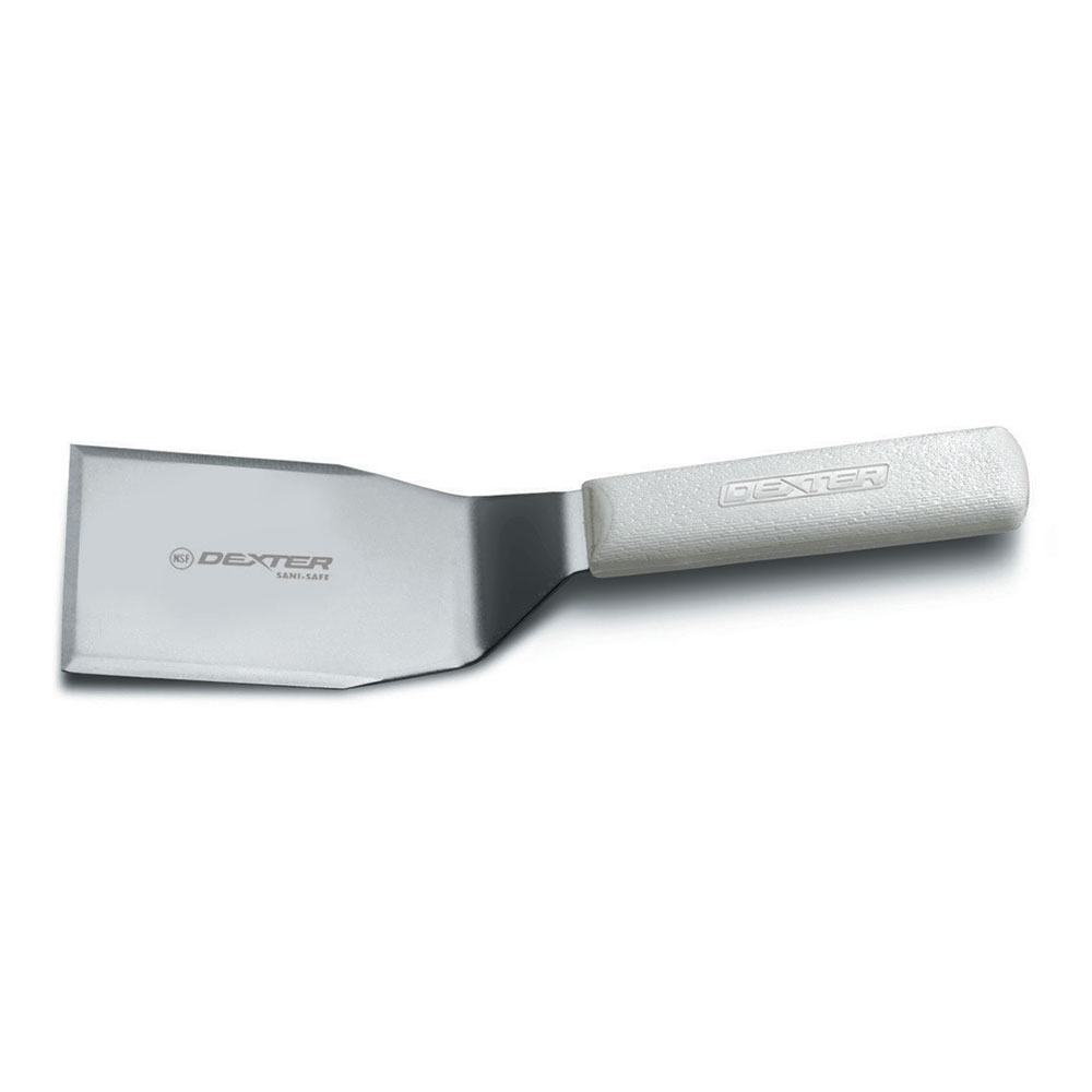 "Dexter Russell S285-3 4""x3""  Sani-Safe® Hamburger Turner w/ Polypropylene White Handle, Stainless Steel"