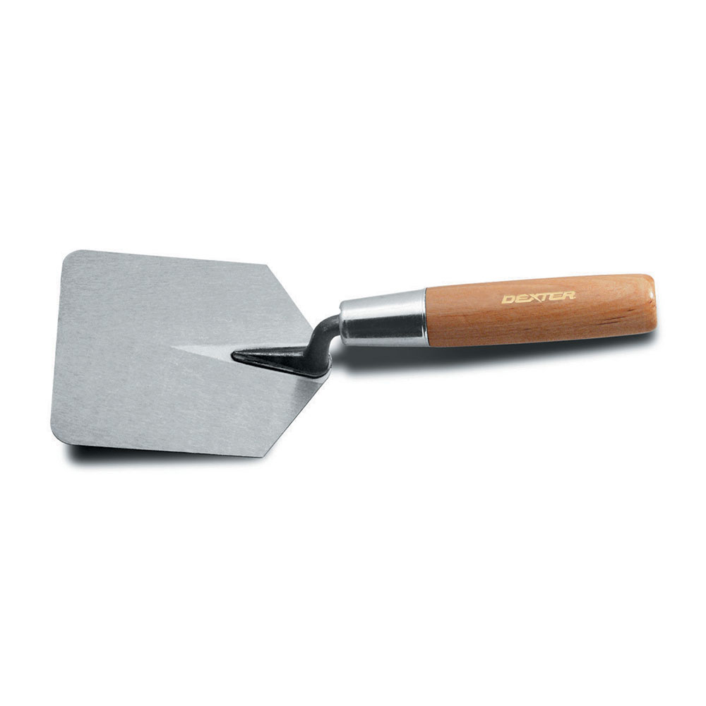"Dexter Russell 1515 4"" x 5"" Hamburger Trowel w/ Hardwood Handle, Carbon Steel"