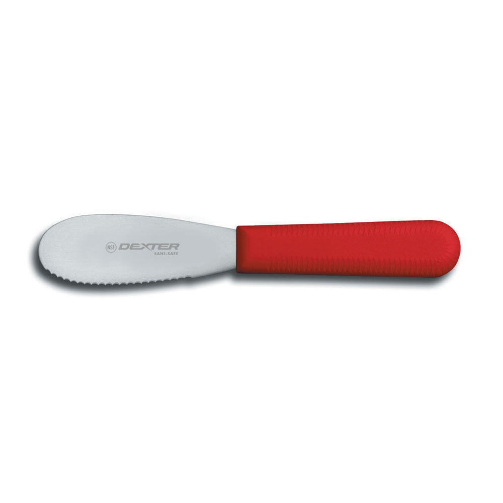 "Dexter Russell S173SCR-PCP 3.5"" Sani-Safe® Sandwich Spreader w/ Polypropylene Red Handle, Stainless Steel"