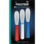 Dexter Russell S173SC-3RWC 3.5-in Scalloped Sandwich Spreader, Stainless, Set: Red, White, Blue