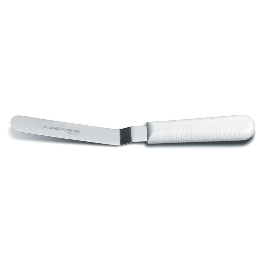 "Dexter Russell S284-5B-PCP 5""  Sani-Safe® Spatula w/ Polypropylene White Handle, Stainless Steel"