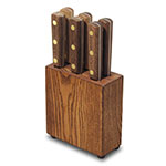 Dexter Russell #6 SET Green River Steak Knife Block Set, 6 Piece