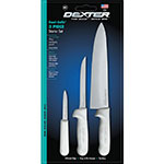 "Dexter Russell 3 PC. CUTLERY SET Cutlery Set w/ 10"" Cooks, 6"" Boning & 3.25"" Paring Knifes"