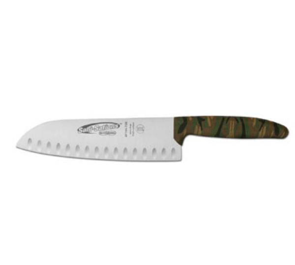 Dexter Russell SF144-7GEK-CP Sani-Sations 7 in Duo-Edge Santoku Knife Camouflage Design Handle Restaurant Supply