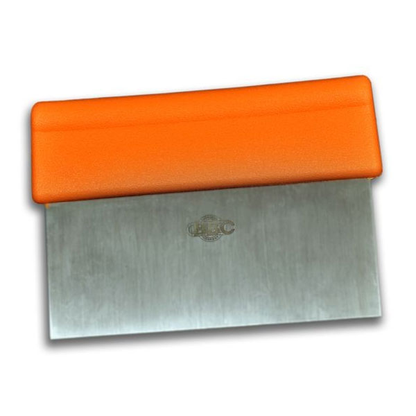 "Dexter Russell T3-6 ORG Scraper Dough Cutter, 6 x 3"", Orange handle"