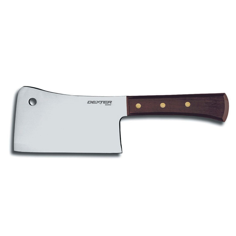 Dexter Russell 49542 Cleaver w/ 6-in Stainless Blade, 1-1/4-lb, Rosewood Handle