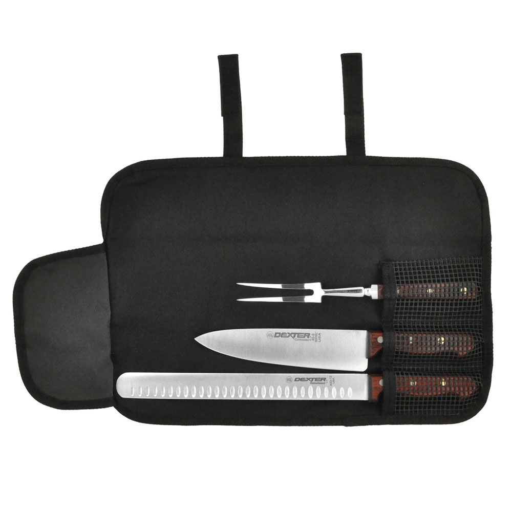 Dexter Russell C3351 3-Piece Connoisseur Carving Set w/ Duo-Edge Slicer, Fork & Cooks Knife
