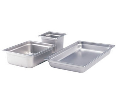 Crestware 4004 Saf-T-Stak Steam Table / Holding Pan, Full Size, 4 in Deep, 24 Gauge