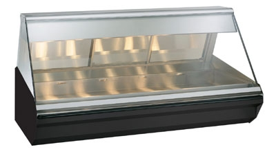 "Alto Shaam EC2-72-BLK Full Service Heated Display Case, Lift-Up Flat Glass, 72"", Black"
