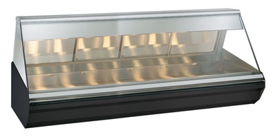 Alto Shaam EC2-96-BLK Full Service Heated Display Case, Lift-Up Flat Glass, 96-in, Black