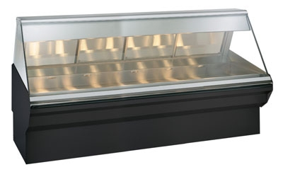 Alto Shaam EC2SYS-96/PL-BLK Full & Self Service Heated Display Case, 96-in, Black