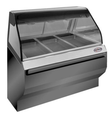 Alto Shaam ED2-48-BLK Full Service Heated Display Case, Countertop, 48-in, Black