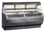 "Alto Shaam ED2-72/2S-BLK 2081 72"" Self-Service Countertop Heated Display Case w/ Curved Glass - (2) Levels, 208-240v/1ph"