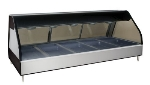 "Alto Shaam ED2-72/PR-BLK 72"" Dual-Service Countertop Heated Display Case - (5) Pan Capacity, 120v/208-240v/1ph"
