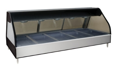 "Alto Shaam ED2-72/PL-BLK 72"" Dual-Service Countertop Heated Display Case - (5) Pan Capacity, 120v/208-240v/1ph"