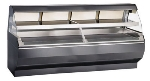 "Alto Shaam ED2-96/2S-BLK 2081 96"" Self-Service Countertop Heated Display Case w/ Curved Glass - (2) Levels, 208-240v/1ph"