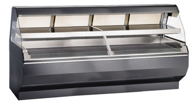 "Alto Shaam ED2-96/2S-C 2081 Self Service Two Tier Display Case, Heated, 96"", Custom, Export"