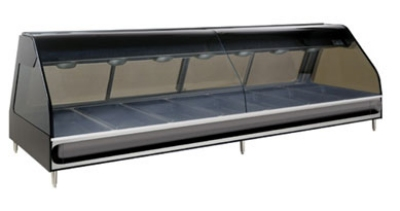 Alto Shaam ED2SYS-96/PL-BLK Full & Self Serve Heat Display Case, European Base, 96-in, Custom
