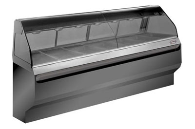 "Alto Shaam ED2-96-BLK Full Service Heated Display Case, Countertop, 96"", Black"