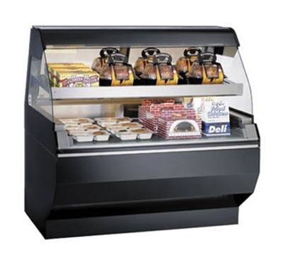 Alto Shaam ED2SYS-48/2S-BLK 48-in Display Case w/ 2-Tiers & Curved Glass, Sliding Rear Door, Black
