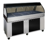"Alto Shaam EU2SYS-72-BLK Full Service Hot Deli Cook Hold Display, 72"", Black"