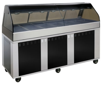 "Alto Shaam EU2SYS-96/PL-BLK Hot Deli Cook Display, 2-ft Self Left Side, 96"", Black"