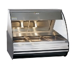 "Alto Shaam HN2-48-BLK 48"" Full-Service Countertop Heated Display Case - (3) Pan Capacity, 120v/208-240v/1ph"