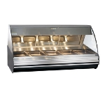 "Alto Shaam HN2-72-BLK 72"" Full-Service Countertop Heated Display Case - (5) Pan Capacity, 120v/208-240v/1ph"