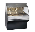 "Alto Shaam HN2SYS-48-BLK Full Service Deli Display Case w/ Base, Heated, 48"", Black"