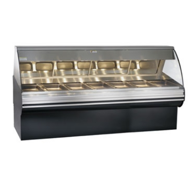 Alto Shaam HN2SYS-96-BLK Full Service Deli Display Case w/ Base, Heated, 96-in, Black