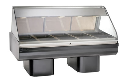 "Alto Shaam PD2SYS-72-BLK Full Serve Hot Deli, 72"", (2) 8 x 36"" Shelf, Black"