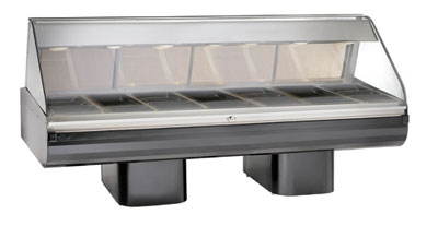 Alto Shaam PD2SYS-96-BLK Full Serve Hot Deli, 96-in, (2) 8 x 48-in Shelf, Black