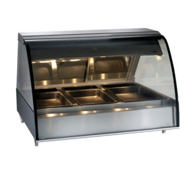 "Alto Shaam TY2-48/P-BLK Self Serve Heated Deli Display Case, Countertop, 48"", Black"