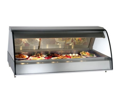 "Alto Shaam TY2-72-BLK Full Service Heated Deli Display Case, Countertop, 72"", Black"