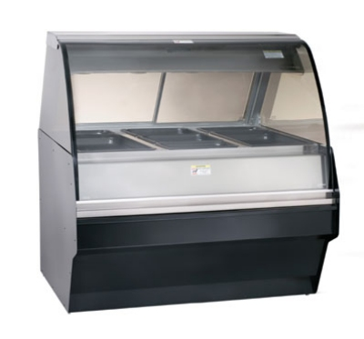 Alto Shaam TY2SYS-48/P-BLK Self Serve Hot Deli Display w/ TY2-48/P Display Case, Black