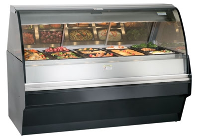Alto Shaam TY2SYS-72-SS Full Serve Hot Deli Display w/ TY2-72 Case, Stainless