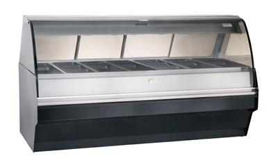 Alto Shaam TY2SYS-96/PL-BLK Self Serve Deli Display w/ TY2-96/PL Display Case, Black