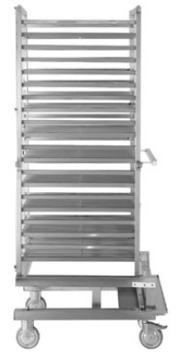 Alto Shaam UN-27970 Roll-In Pan Cart Trolley w/Wire Shelves and Pan Support Rails
