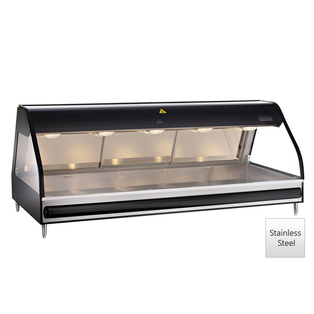 "Alto Shaam ED2-72-SS Full Service Heated Display Case, 72"", Stainless"