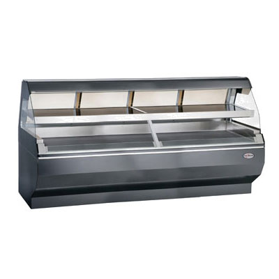 "Alto Shaam ED2SYS-96/2S-SS 2081 2-Tier Display Case w/ European Base, 96"", Stainless, Export"