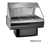 Alto Shaam PD2SYS-48/P-BLK 230 48-in Display Case w/ Pedestal Base & Work Shelf, Black, Export