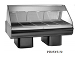 Alto Shaam PD2SYS-72/P-BLK 230 72-in Display Case w/ Pedestal Base & 2-Work Shelf, Black, Export