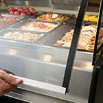 """Alto Shaam PD2SYS-72/PL-SS 120 72"""" Display Case w/ Left-Side Service Opening, Stainless, 120/208-240/1 V"""