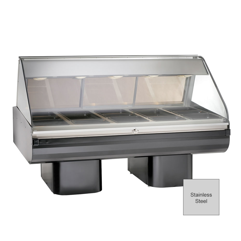 "Alto Shaam PD2SYS-72-SS Full Serve Hot Deli, 72"", (2) 8 x 36"" Shelf, Stainless"