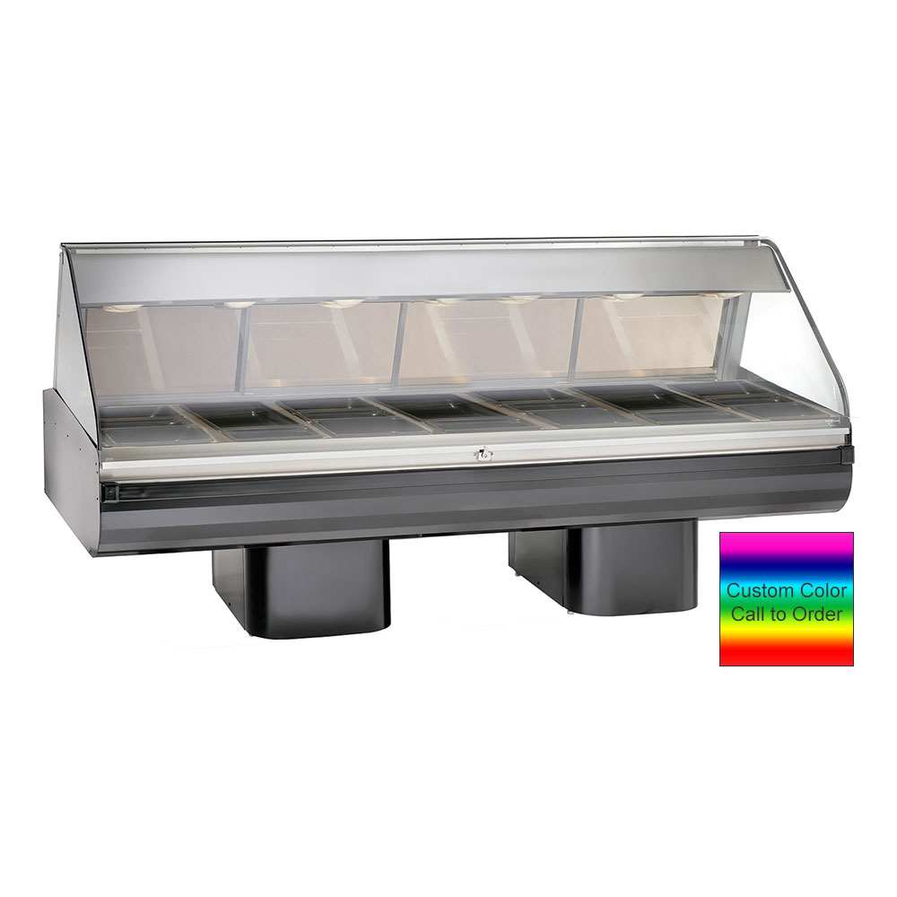 "Alto Shaam PD2SYS-96-C Full Serve Hot Deli, 96"", (2) 8 x 48"" Shelf, Custom"