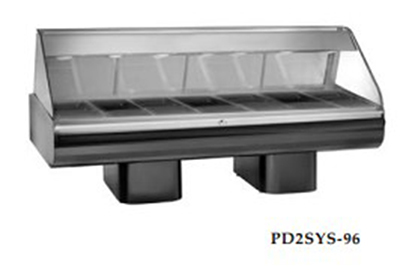 Alto Shaam PD2SYS-96/PL-SS 120 96-in Display Case w/ Left-Side Service Opening, Stainless, 120/208-240/1 V
