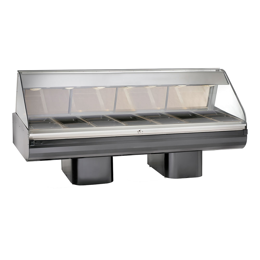 """Alto Shaam PD2SYS-96/PR-BLK 120 96"""" Display Case w/ Right-Side Service Opening, Black, 120/208-240/1 V"""