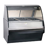 Alto Shaam TY2SYS-48-BLK Full Serve Hot Deli Display w/ TY2-48 Display Case, Black